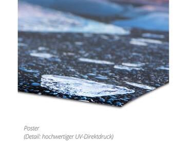 Posterlounge Wandbild - Elisabeth Fredriksson »Kleines Steinland bei Nacht«, bunt, Poster, 50 x 70 cm, bunt