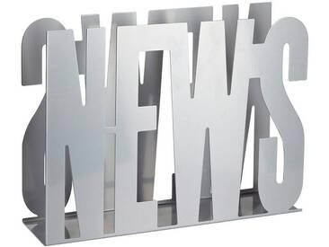 Zeller Present Zeller Zeitungshalter »News«, silberfarben, silberfarben