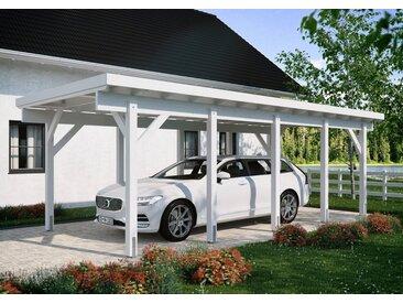 Kiehn-Holz Einzelcarport »KH 320 / KH 321«, BxT: 344x754 cm, Stahl-Dach, verschiedene Farben, weiß, 660 cm, weiß
