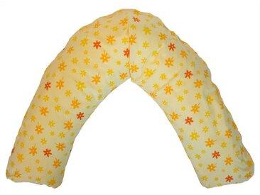 Theraline Bezug für Stillkissen Komfort 170 cm, Blümchen gelb, gelb, gelb