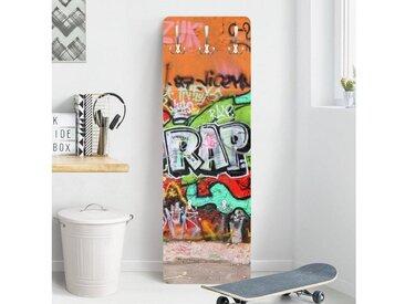 Bilderwelten Kindergarderobe 139x46x2cm »Graffiti«, orange, 139x46 cm, 139x46 cm, Orange