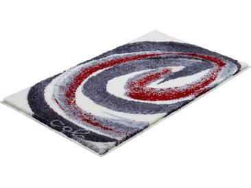 Colani Badematte » 42« , Höhe 24 mm, rutschhemmend beschichtet, fußbodenheizungsgeeignet, grau, 24 mm, grau-rot