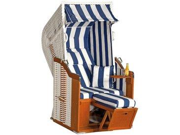 SunnySmart SUNNY SMART Strandkorb »Rustikal 250 Plus«, BxTxH: 95x90x160 cm, weiß