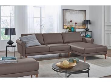 Hülsta Sofa hülsta sofa Polsterecke »hs.450« im modernen Landhausstil, Breite 262 cm, grau, Recamiere rechts, beigegrau