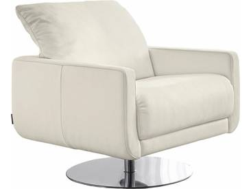 W.SCHILLIG Armlehnen-Sessel »mademoiselle« mit Kopfstützenverstellung und Drehteller, weiß, weiß