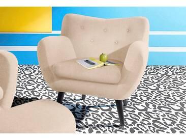 INOSIGN Sessel im Retro-Style, natur, beige