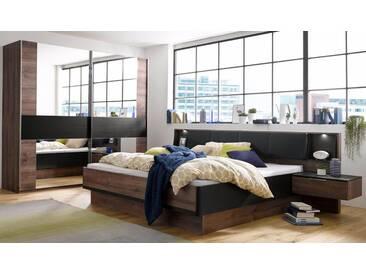 Wimex Bettanlage »Montreal«, 3-teilig, schwarz, schlammeichefarben/schwarzeichefarben, schwarz
