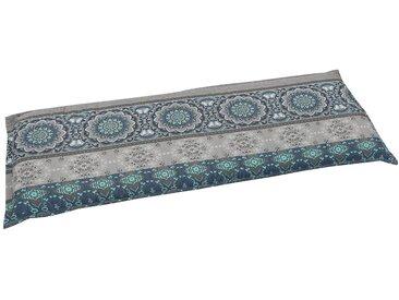 GO-DE Bankauflage (L/B): ca. 115x45 cm, blau, 1 Auflage, blau/grau