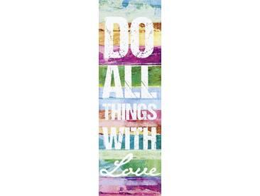 Artland Wandgarderobe »Jule: Tu alles mit Liebe«, 140 x 45 x 2,8 cm, Farbig