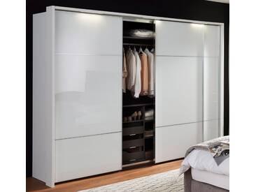 nolte® Möbel Schwebetürenschrank »Marcato 3« mit Fronten aus Weißglas, weiß, Korpus polarweiss, Front Weißglas