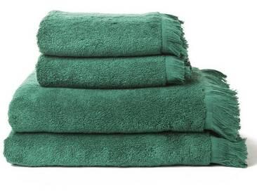 Casa di Bassi Handtuch Set »mit Fransenabschluss«, Fransenabschluss, grün, grün