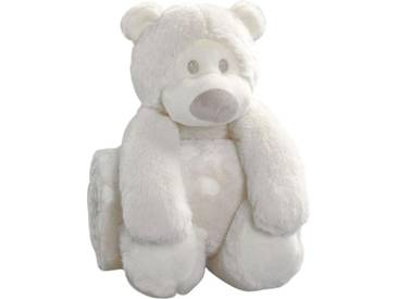 BIEDERLACK Babydecke »Eisbär«, natur, Polyester, ecru-beige