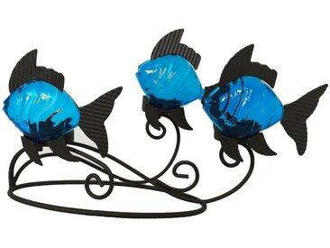 HTI-Line Teelichthalter »Fisch«, grau, Anthrazit