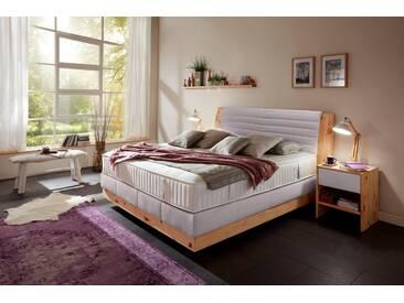 ADA premium Boxspringbett »Chalet«, Grand Comfort TF 1000 PM, grau, 7-Zonen-Tonnentaschenfederkern-Partnermatratze H2, grau-beige RLN 30