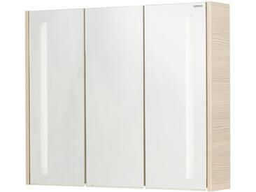FACKELMANN Spiegelschrank »Viora - Pinie«, Breite 79,5 cm, 3 Türen, silberfarben, silberfarben