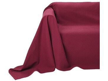 Pereira da Chuna PEREIRA DA CUNHA Sesselüberwurf mit Hoch-/Tiefstruktur, rot, bordeaux