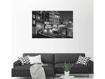 Posterlounge Wandbild - Dennis Siebert »Hochbahn«, bunt, Holzbild, 90 x 60 cm, bunt