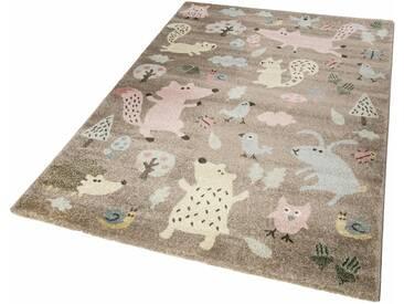 Sigikid Kinderteppich »Forest«, rechteckig, Höhe 13 mm, braun, 13 mm, rosa-taupe