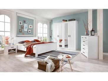 Wimex Kleiderschrank »Castell«, weiß, Breite 188 cm, 4-türig, ohne Aufbauservice, ohne Aufbauservice, weiß