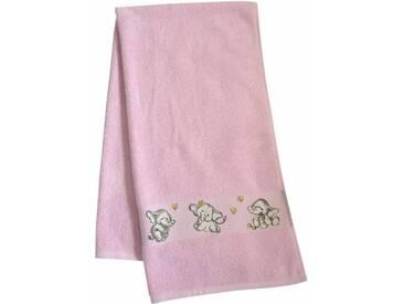 Dyckhoff Badetuch »Elefant 2«, mit feiner Bordüre und Elefanten Motiv, rosa, Walkfrottee, rose