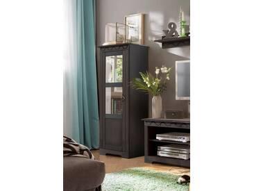 Home affaire Vitrine »Laura« klein, Höhe 140 cm, braun, kolonialfarben