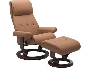 Stressless® Set: Relaxsessel mit Hocker »Sky« mit Classic Base, Größe S, Gestell wengefarben, braun, latte BATICK