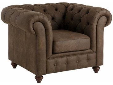 Premium collection by Home affaire Sessel »Chesterfield«, braun, olive