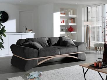 INOSIGN Big-Sofa »Libra« in ungewöhnlichem Design mit geschwungenem Holz, schwarz, schwarz