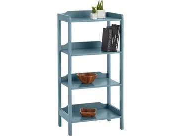 Home affaire Regal in 2 Höhen, blau, Mit 3 Fächern, blau antik