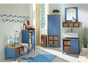 heine home Kommode mit Platz für drei Körbe, blau, ca. 90/60/35 cm, 1 Tür, 3 offene Fächer, blau