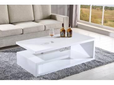 ATLANTIC home collection ATLANTIC HOME COLLECTION Couchtisch, weiß, Rechteck, Weiß Hochglanz