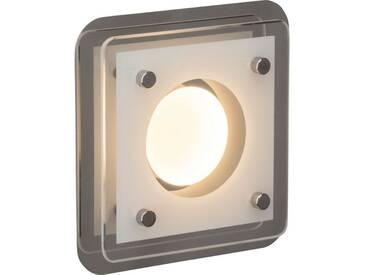 AEG Charon LED Wand- und Deckenleuchte 1flg chrom/transparent, silberfarben, chrom/transparent
