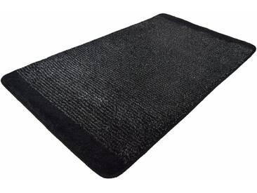 Kleine Wolke Badematte »Singapur« , Höhe 20 mm, rutschhemmend beschichtet, fußbodenheizungsgeeignet, schwarz, 20 mm, schwarz