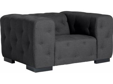 Max Winzer® Sessel »York« mit Knopfheftung, Breite 130 cm, grau, graphit