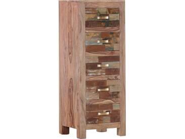 Gutmann Factory Kommode »Patchwork« aus massivem Sheesham Holz, Höhe 120 cm, natur, natur/bunt