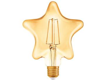 Osram LED-Lampe, Vintage-Edition »Vintage 1906 STAR 40 4.5 W/825 E27 GOLD«, goldfarben, gold