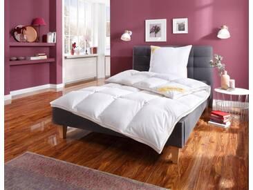 Balette Gänsedaunenbettdecke + Kopfkissen, »Aileen«, extrawarm, Material Füllung: Gänsedaunen, (Set), weiß