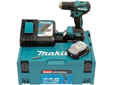 Makita MAKITA Akku-Bohrschrauber »DDF483RTJ / DDF483RAJ / DDF483Y1J / DDF483Z«, 18 V, blau, 2 Ah, 2 Akkus, blau
