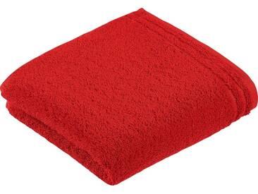 Vossen Handtücher »Calypso«, mit schmaler Bordüre, rot, Walkfrottee, purpur