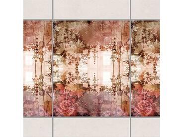 Bilderwelten Fliesen Bordüre Set 25x20 cm »Old Grunge«, bunt, Farbig