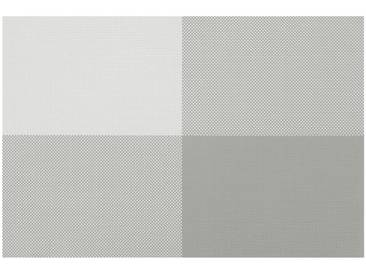 Contento Platzset »Zarah« (Set 4-tlg), grau, Vinyl, hellgrau