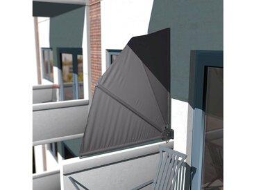 KONIFERA Balkonsichtschutz Balkonfächer »Markise«, BxH: 140x140 cm, grau, 140 cm, anthrazit