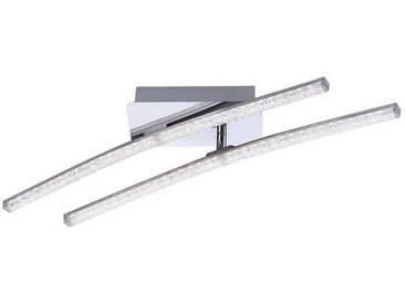 Leuchten Direkt LEUCHTEN DIREKT LED-Deckenleuchte Kristalloptik Leuchtstäbe 58cm, 2-flammig »SIMON«, silberfarben, chromfarbig