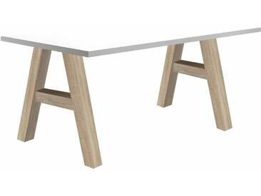 Mäusbacher Schreibtisch »Mio«, weiß, eichefarben/weiß matt