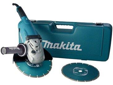 Makita MAKITA Winkelschleifer »GA9020RFK3«, 230 mm im Koffer inkl. 2 Diamantscheiben, blau, blau