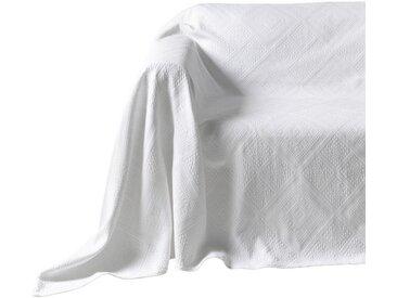 Pereira da Chuna PEREIRA DA CUNHA Sesselüberwurf mit Hoch-/Tief-Struktur, weiß, weiß