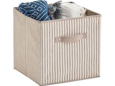 Zeller Present Zeller Aufbewahrungsbox »Stripes«, faltbar, Vlies, beige, natur, Maße(B/T/H):(31/31/31)(B/T/H):(31/31/31), natur