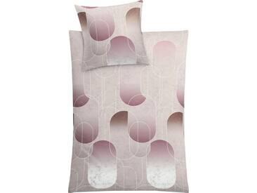 Kleine Wolke Bettwäsche »Ghedi«, im tollen Retro-Design, lila, 1x 135x200 cm, Mako-Satin, lila-grau