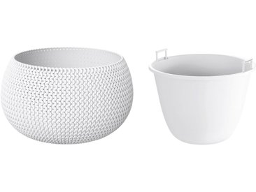 Prosperplast PROSPERPLAST Blumenkübel »Splofy Bowl«, weiss, ØxH: 37x21 cm, weiß, 37 cm, weiß