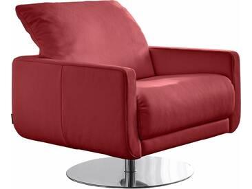 W.SCHILLIG Armlehnen-Sessel »mademoiselle« mit Kopfstützenverstellung und Drehteller, rot, ruby red